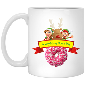 Elves Sprinkles Pink XP8434 11 oz. White Mug