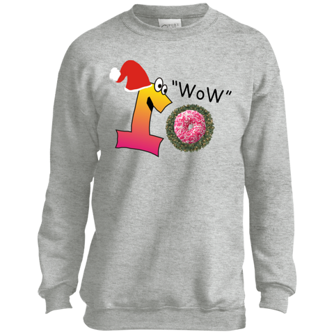Wow Pink Sprinkles PC90Y Port and Co. Youth Crewneck Sweatshirt