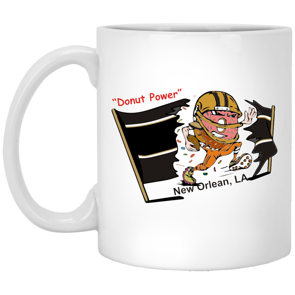 New Orleans XP8434 11 oz. White Mug
