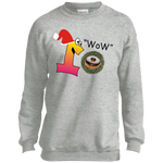 Wow Chocolate PC90Y Port and Co. Youth Crewneck Sweatshirt