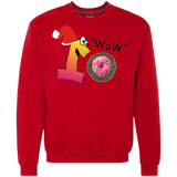 Wow Pink Sprinkles G920 Gildan Heavyweight Crewneck Sweatshirt 9 oz.
