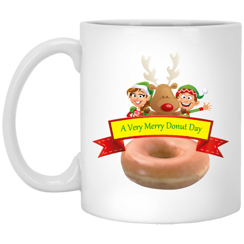 Elves Glazed XP8434 11 oz. White Mug