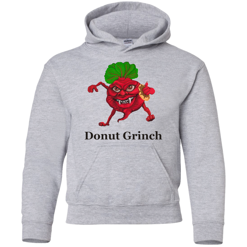 Donut Grinch Youth Pullover Hoodie