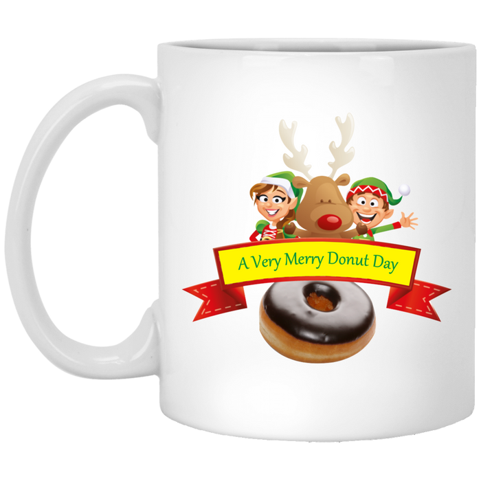 Elves Chocolate XP8434 11 oz. White Mug