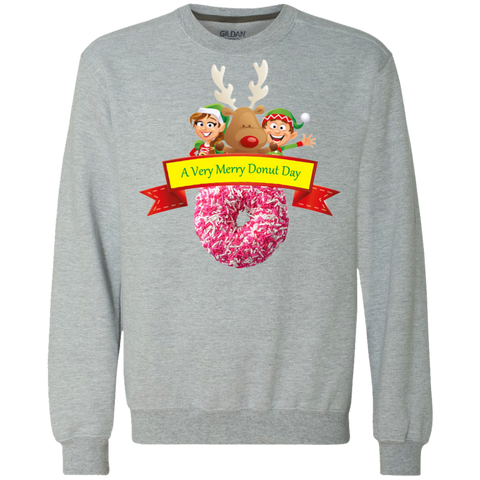 Elves Sprinkles Pink G920 Gildan Heavyweight Crewneck Sweatshirt 9 oz.