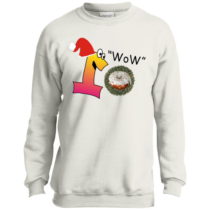 Wow Coconut PC90Y Port and Co. Youth Crewneck Sweatshirt
