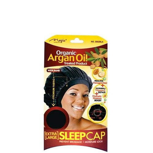 Magic Organic Argan Oil Sleep Cap X-Large Black
