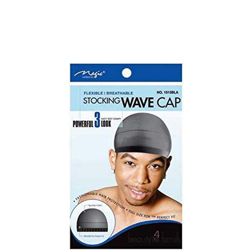 Magic Stocking Wave Cap Black Hair Du Rag