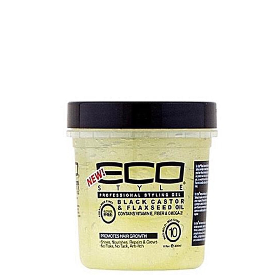 EcoStyle Professional Styling Gel Black Castor & Flaxseed Oil