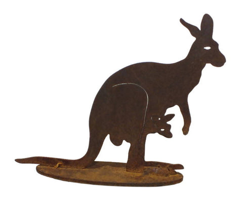 Rusty Owl Sunbury Small Kangaroo with Joey Stand