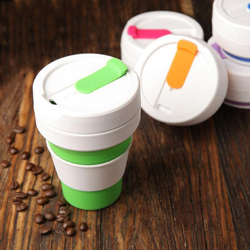 Silicone Folding Cup with Lids