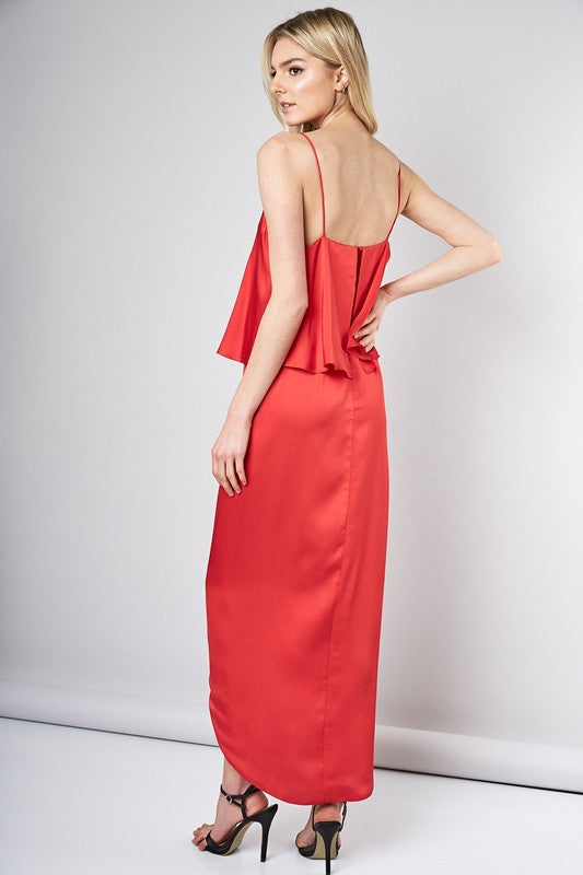 Spanish nights draped gown