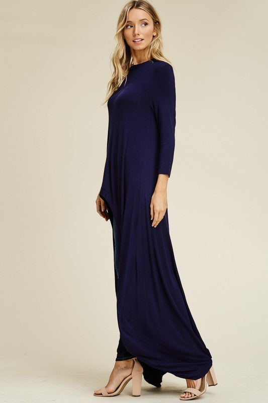 Thigh high maxi tee.