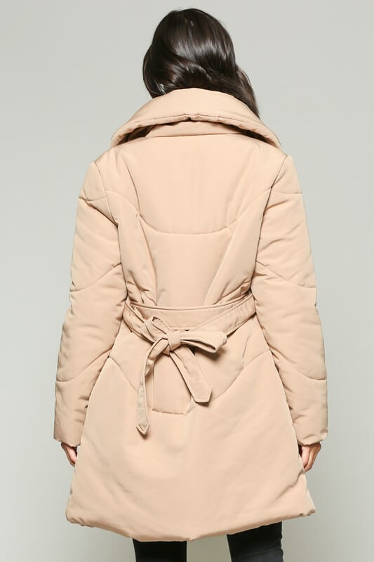 Shawl Collar Puffer Jacket