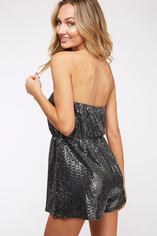 Tube Sequin Romper
