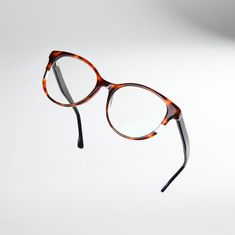 MOXIE BROWN//NAVY BLUE LIGHT BLOCKING GLASSES - Don Rebel