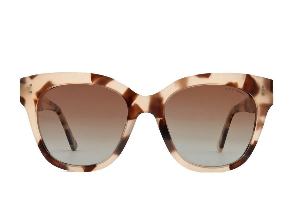 ZOE DEMI CREAM OVERSIZED SUNGLASSES,
