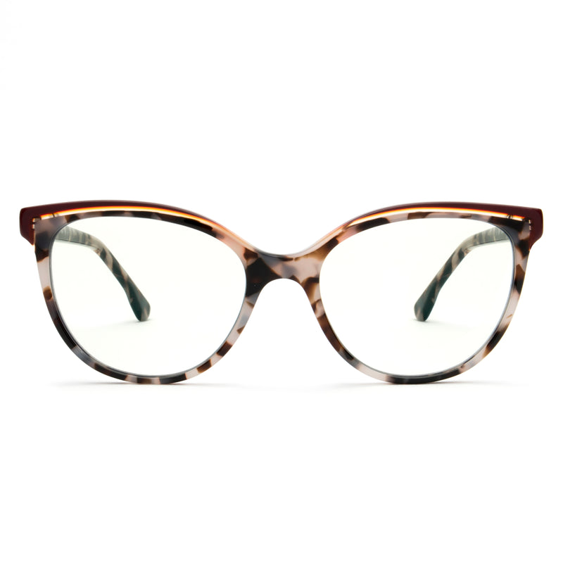 BETZY TORTOISE AND NAVY BLUE LIGHT BLOCKING GLASSES - Don Rebel