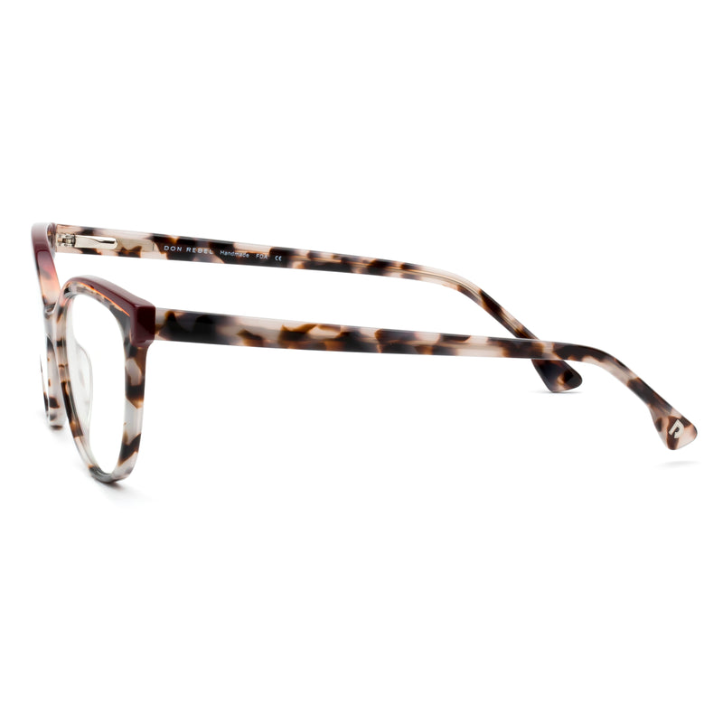BETZY BLACK DOUBLE BROW CUT-OUT  BLUE LIGHT BLOCKING GLASSES - Don Rebel