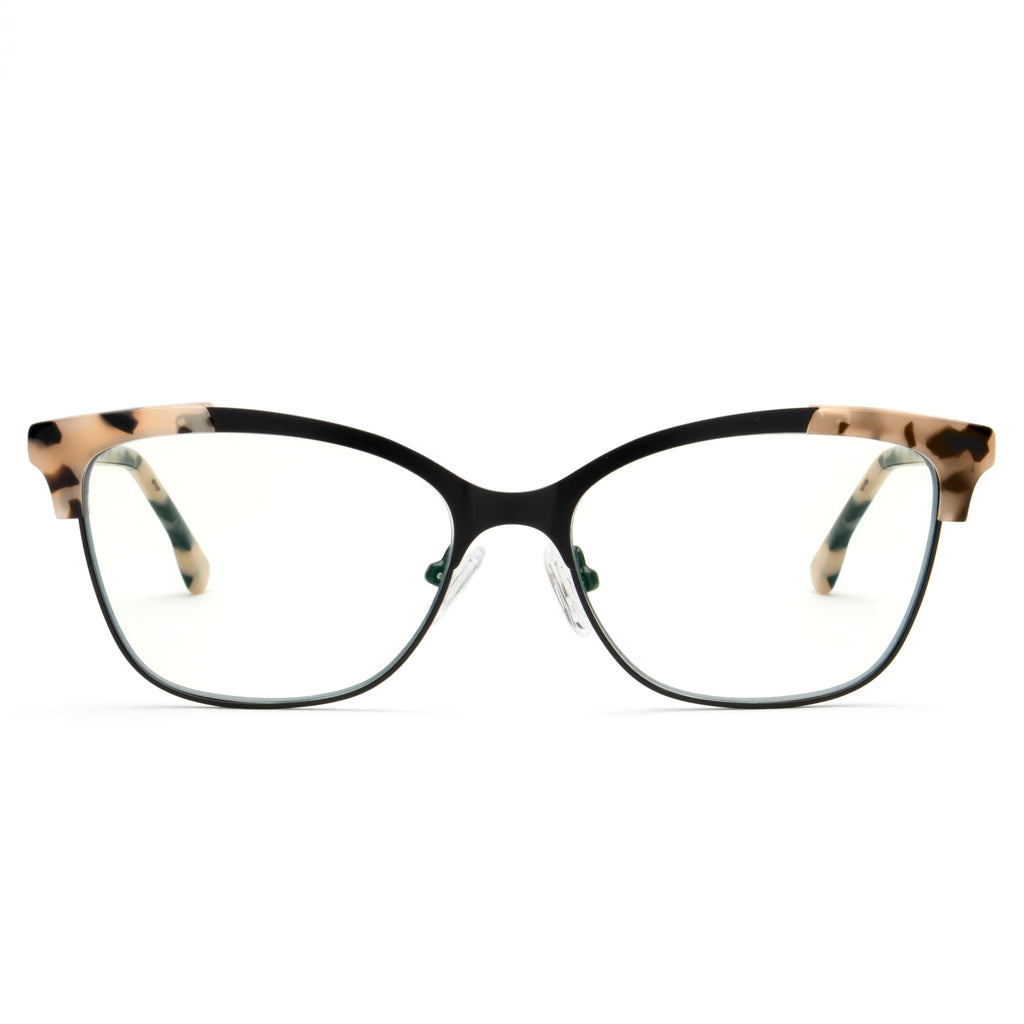 FRENCHY NEUTRAL TORTOISE BLUE LIGHT BLOCKING GLASSES,