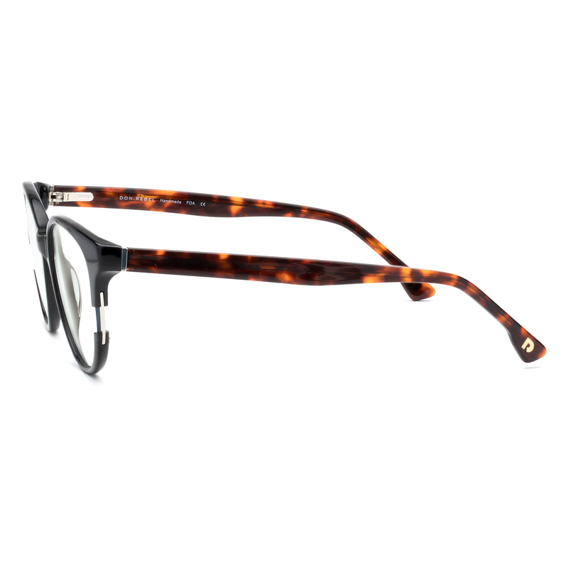MOXIE BLACK HALF WAY BLUE LIGHT BLOCKING GLASSES,