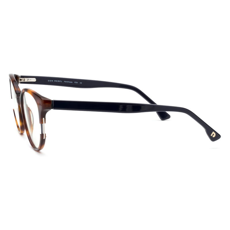 MOXIE BROWN//NAVY BLUE LIGHT BLOCKING GLASSES,