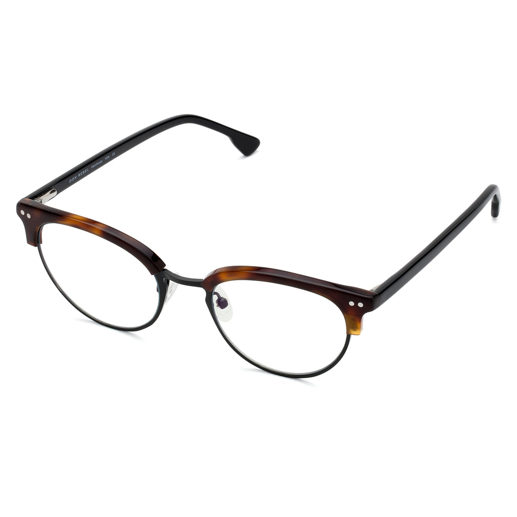 VIXEN CAT EYE TORTOISE BLUE LIGHT BLOCKING GLASSES - Don Rebel