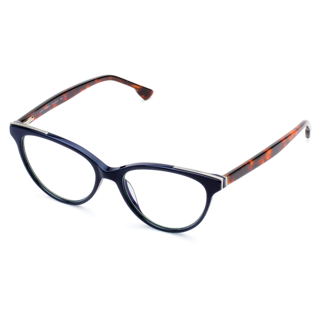SLAYER NAVY TORTOISESHELL BLUE LIGHT BLOCKING GLASSES,