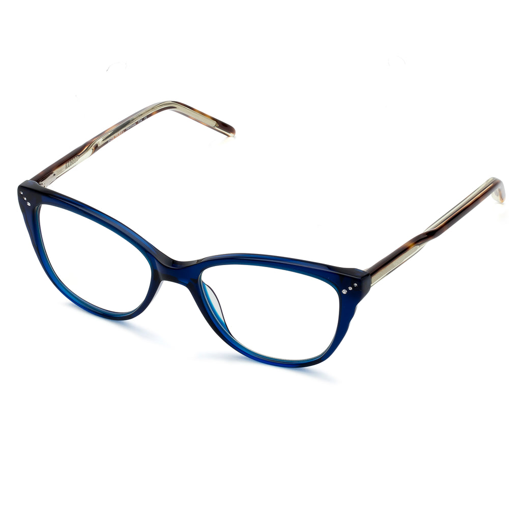 WIDOW BLUE TORTOISESHELL BLUE LIGHT BLOCKING  GLASSES,