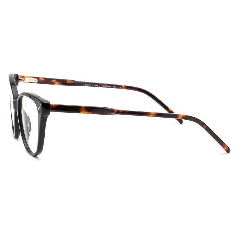 WIDOW BLACK TORTOISESHELL  BLUE LIGHT BLOCKING GLASSES - Don Rebel
