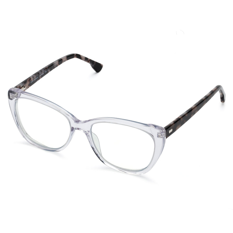 BETZY BLACK DOUBLE BROW CUT-OUT  BLUE LIGHT BLOCKING GLASSES