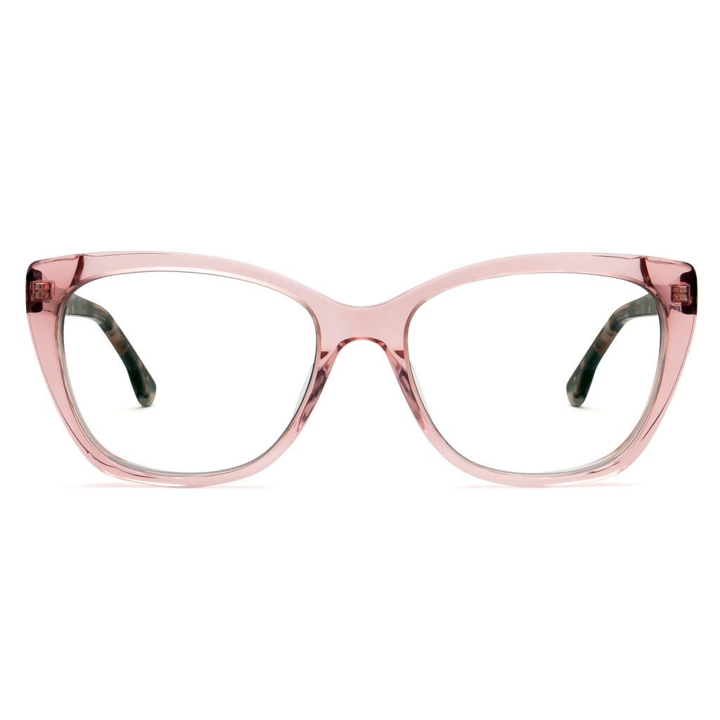 JADE PINK CLEAR BLUE LIGHT BLOCKING GLASSES - Don Rebel
