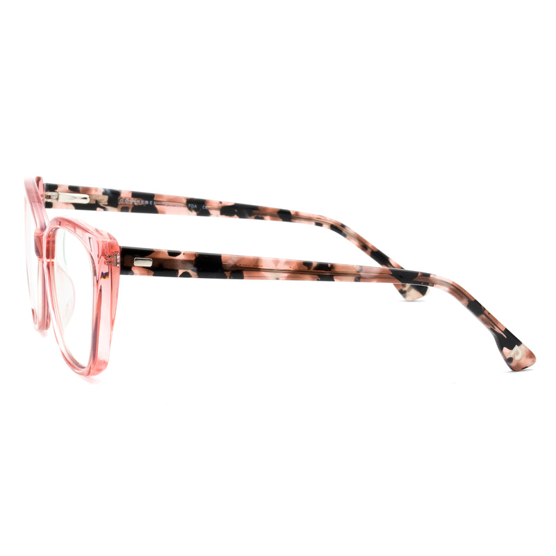 JADE PINK CLEAR BLUE LIGHT BLOCKING GLASSES,