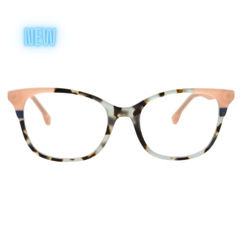 WIDOW BLUE TORTOISESHELL BLUE LIGHT BLOCKING  GLASSES