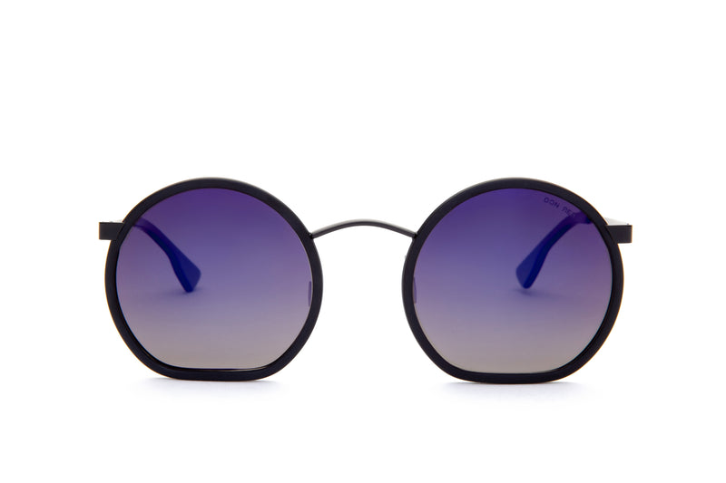 STRUMMER BLACK ROUND FLAT MIRRORED LENSES