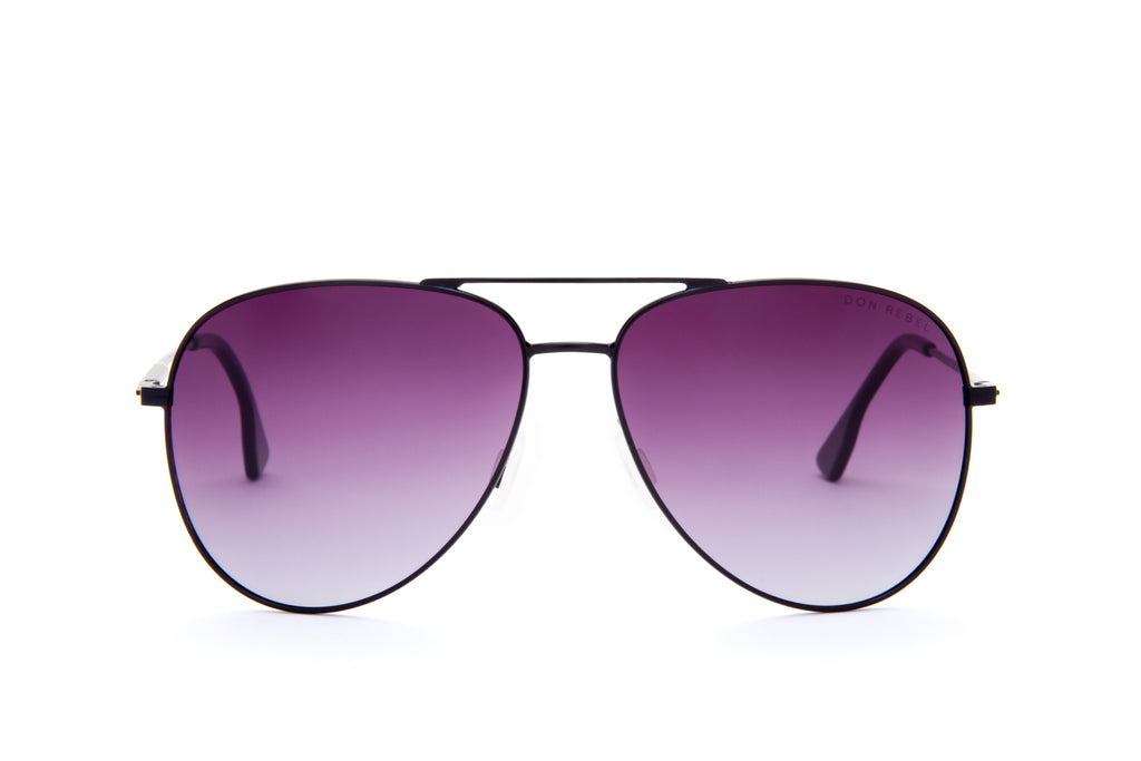 BILLY BLACK ELEVATED AVIATOR SUNGLASSES - Don Rebel