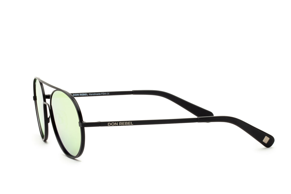 REBEL PINK ROUND BRIDGE MIRRORED SUNGLASSES - Don Rebel