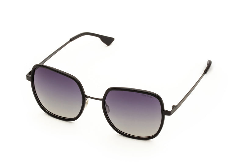 CAREN PRINTED PURPLE OVERSIZED RECTANGULAR SUNGLASSES - Don Rebel