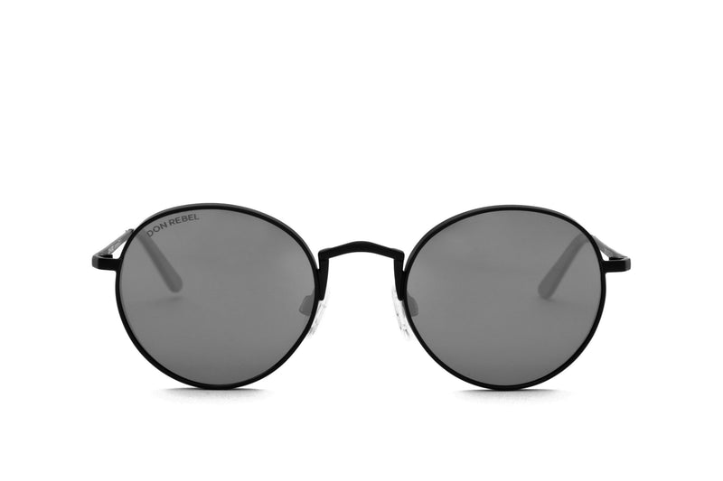 STRUMMER BLUE ROUND FLAT MIRRORED LENSES