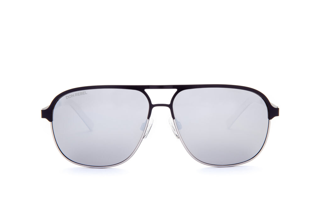 DANNY GREY BRIDGE AVIATOR SUNGLASSES,