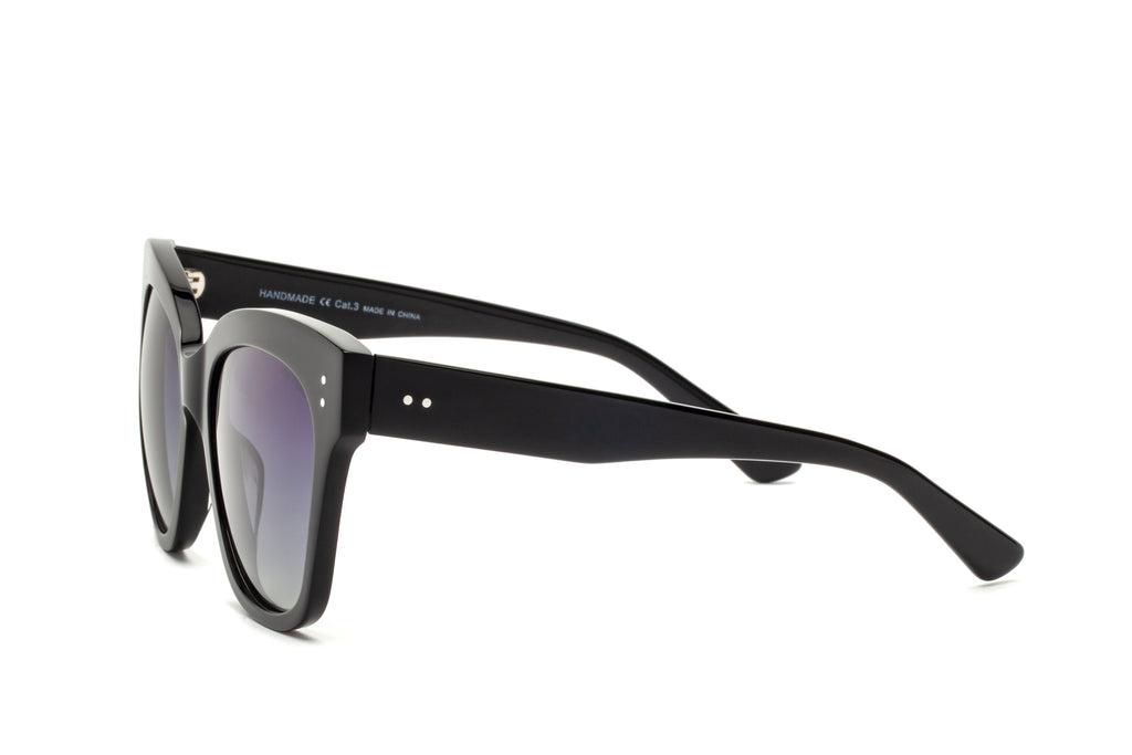ZOE BLACK POLARIZED SUNGLASSES,
