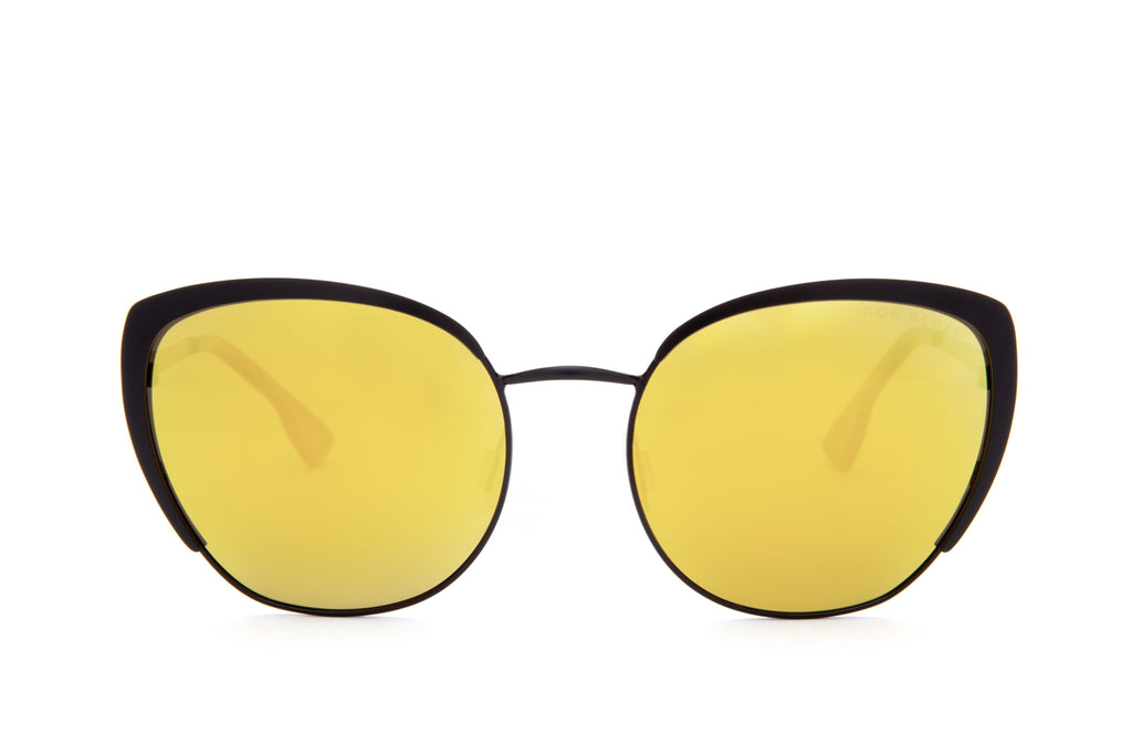 BEV GOLD LENS CAT EYE SUNGLASSES - Don Rebel