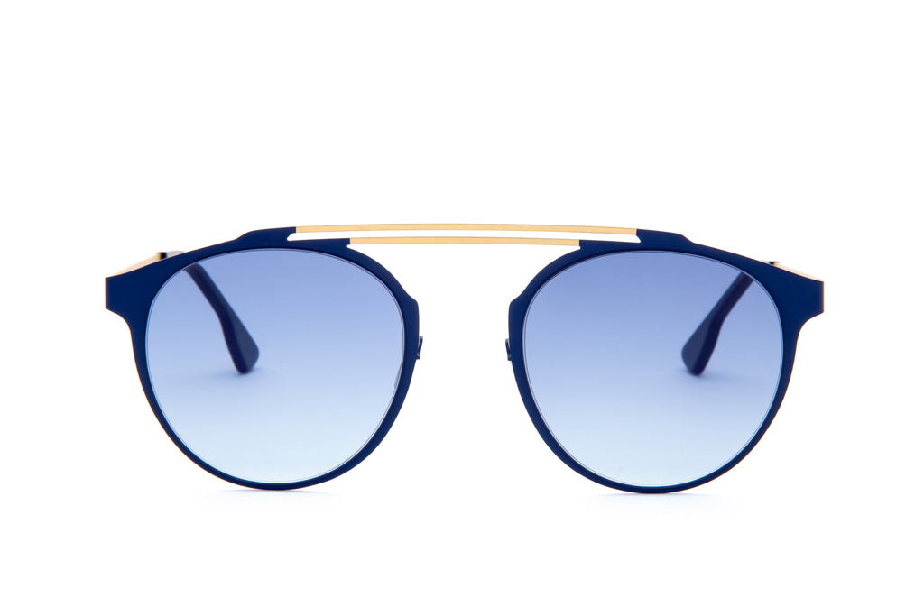 DECO BLUE DOUBLE BRIDGE SUNGLASSES - Don Rebel