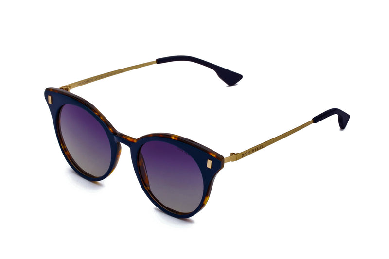 MEMPHIS NAVY BLUE CAT EYE SUNGLASSES POLARIZED - Don Rebel