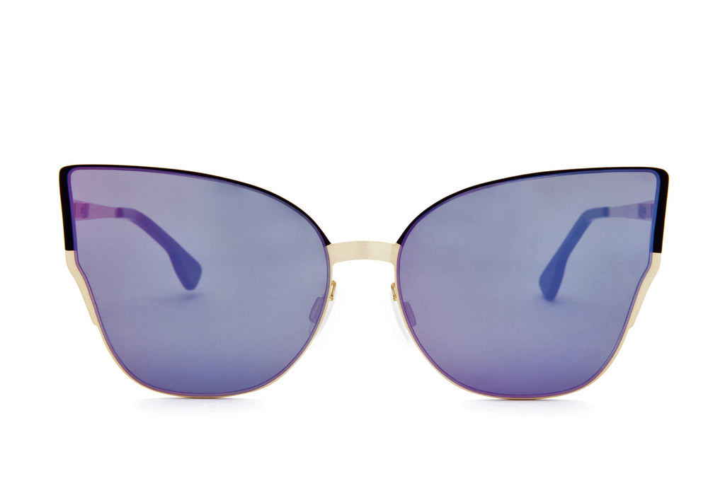 MARIAH PURPLE OVER SIZED CAT EYE SUNGLASSES - Don Rebel