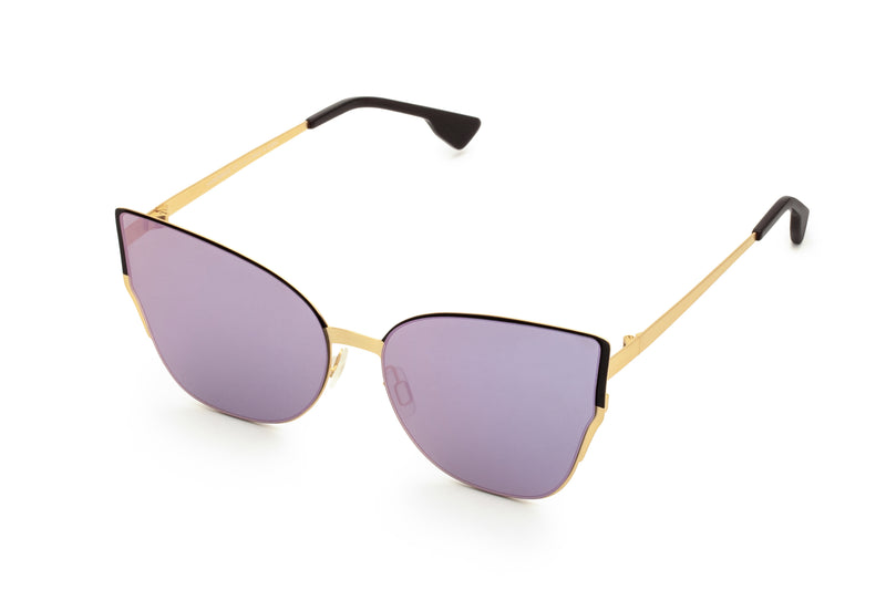 MARIAH PURPLE OVER SIZED CAT EYE SUNGLASSES,