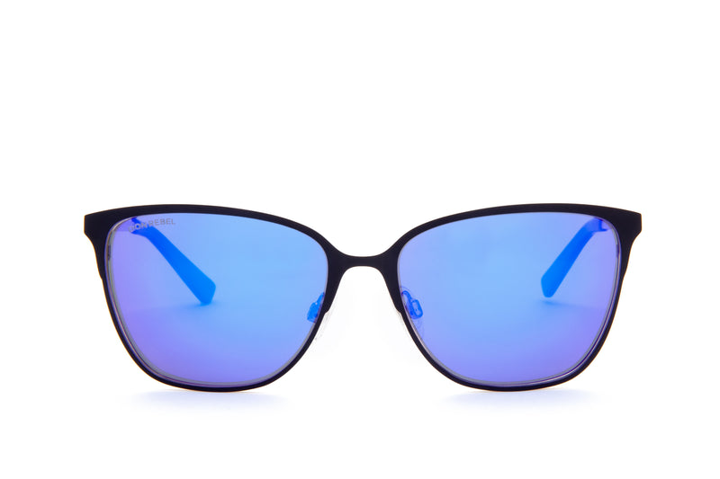 DON BLUE CLASSIC CAT EYE SUNGLASSES,