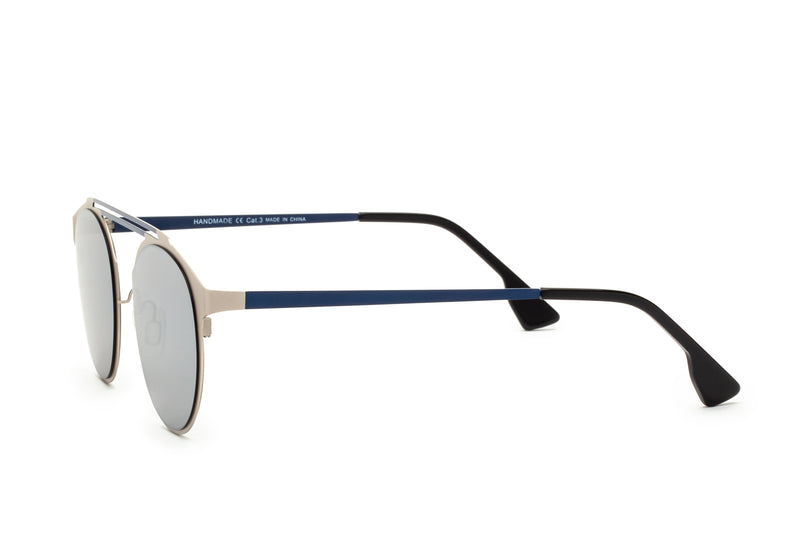 DECO SILVER DOUBLE BRIDGE SUNGLASSES,