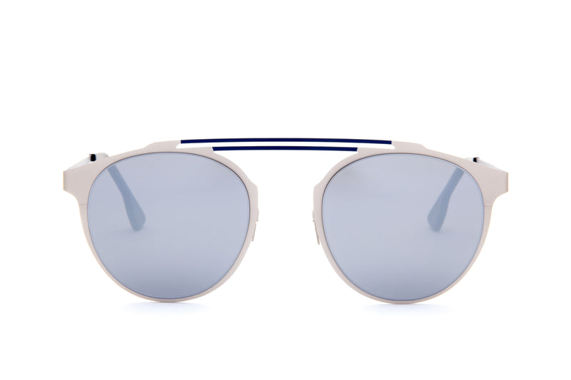 DECO BLUE DOUBLE BRIDGE SUNGLASSES