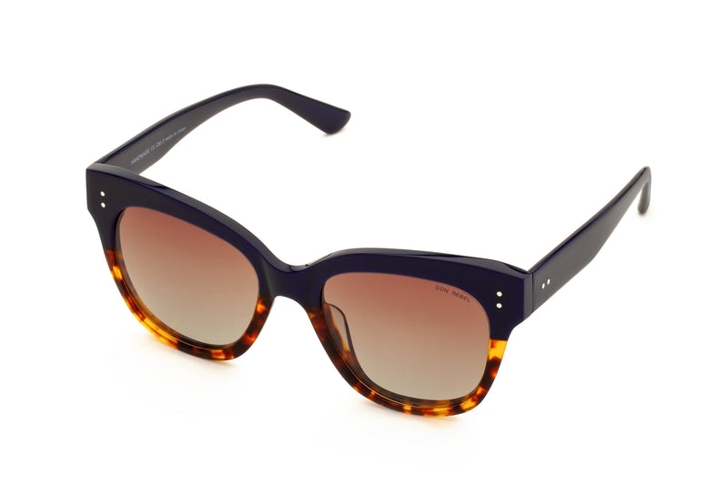 ZOE HALF PRINTED ORIGINAL OVERSIZED SUNGLASSES,